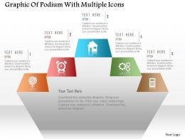 0115 Graphic Of Podium With Multiple Icons Powerpoint Template
