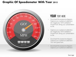 0115 Graphic Of Speedometer With Year 2015 Powerpoint Template