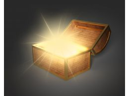 0115 Graphic Of Treasure Chest Stock Photo