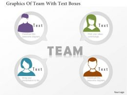 0115 Graphics Of Team With Text Boxes Powerpoint Template