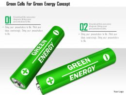 0115 Green Cells For Green Energy Concept Image Graphic For Powerpoint