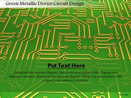 0115 Green Metallic Device Circuit Design Image Graphics For Powerpoint