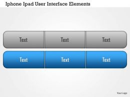 0115 Grey And Blue User Interface For Ipad And Iphone Powerpoint Template
