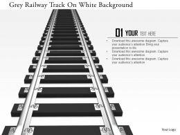 0115 Grey Railway Track On White Background Image Graphics For Powerpoint