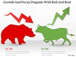 0115_growth_and_decay_diagram_with_bull_and_bear_powerpoint_template_Slide01