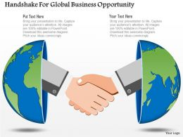 0115 Handshake For Global Business Opportunity Powerpoint Template