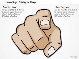 0115 Human Finger Pointing For Change Powerpoint Template