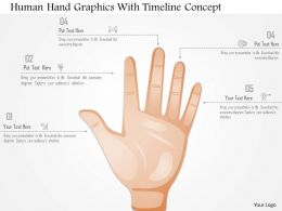 0115 Human Hand Graphics With Timeline Concept Powerpoint Template