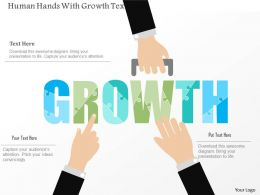 0115 Human Hands With Growth Text Powerpoint Template