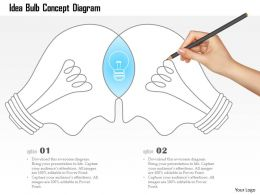 0115 Idea Bulb Concept Diagram Powerpoint Template