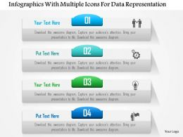 0115 Infographics With Multiple Icons For Data Representation PowerPoint Template