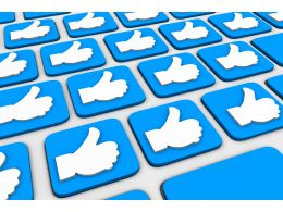 0115 Keyboard With Like Symbols Stock Photo