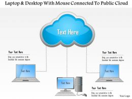 0115_laptop_and_desktop_with_mouse_connected_to_public_cloud_ppt_slide_Slide01
