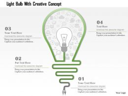 0115 Light Bulb With Creative Concept Powerpoint Template