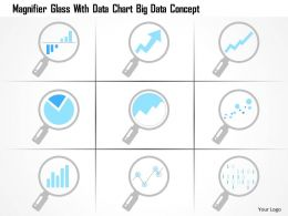 0115 Magnifier Glass With Data Chart Big Data Concept Ppt Slide