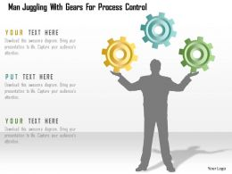 0115 Man Juggling With Gears For Process Control Powerpoint Template
