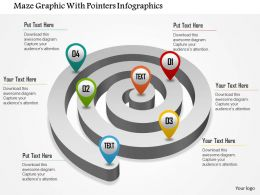0115 Maze Graphic With Pointers Infographics Powerpoint Template