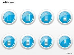 0115 Mobile Icons Showing Battery Status Charging Ppt Slide
