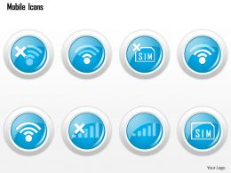 0115 Mobile Icons Showing Phone Status No Signal No Sim Card Ppt Slide