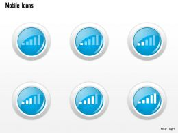 0115 Mobile Icons Showing Wireless Signal Strength Ppt Slide