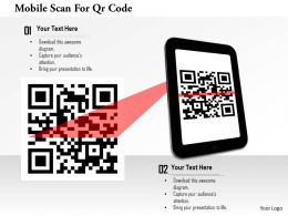 0115 Mobile Scan For Qr Code Image Graphics For Powerpoint