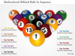 0115 Multicolored Billiard Balls In Sequence Image Graphics For Powerpoint