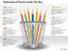 0115 Multicolored Pencils Inside The Box PowerPoint Template