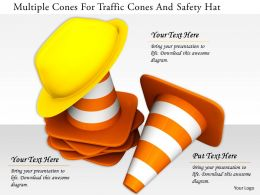 0115 Multiple Cones For Traffic Cones And Safety Hat Image Graphic For Powerpoint