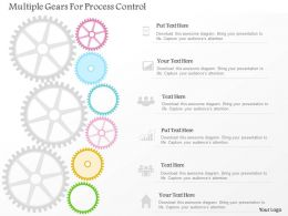 0115 Multiple Gears For Process Control Powerpoint Template