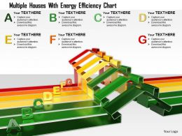 0115 Multiple Houses With Energy Efficiency Chart Image Graphic For Powerpoint