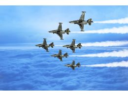 0115 Multiple Jet Planes For Defence Stock Photo