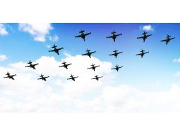 0115 Multiple Jets In The Sky Stock Photo