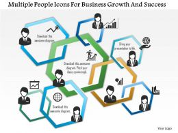 0115 Multiple People Icons For Business Growth And Success Powerpoint Template