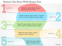 0115 Numeric Text Boxes With Human Face Powerpoint Template