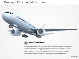 0115 Passenger Plane For Global Travel Image Graphics For Powerpoint
