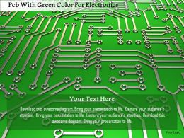 0115 Pcb With Green Color For Electronics Image Graphics For Powerpoint