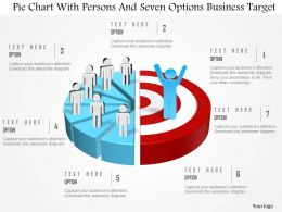 0115 Pie Chart With Persons And Seven Options Business Target Powerpoint Template