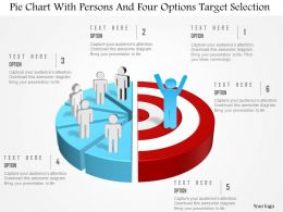 0115 Pie Chart With Persons And Six Options Target Selection Powerpoint Template