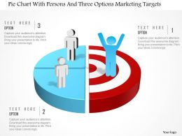 0115 Pie Chart With Persons And Three Options Marketing Targets Powerpoint Template