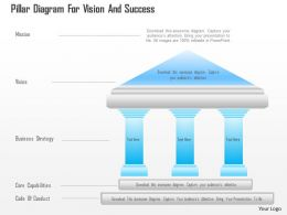 0115 Pillar Diagram For Vision And Success Powerpoint Template