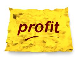 0115 Profit Text On Yellow Paper Stock Photo