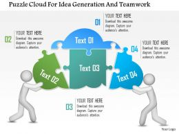 0115 Puzzle Cloud For Idea Generation And Teamwork Powerpoint Template