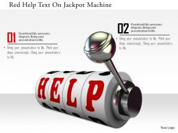 0115 Red Help Text On Jackpot Machine Image Graphics For Powerpoint