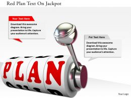 0115 Red Plan Text On Jackpot Image Graphics For Powerpoint