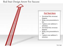 0115 Red Stair Design Arrow For Success Image Graphics For Powerpoint
