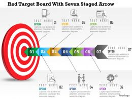 0115_red_target_board_with_seven_staged_arrow_powerpoint_template_Slide01
