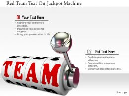 0115 Red Team Text On Jackpot Machine Image Graphics For Powerpoint