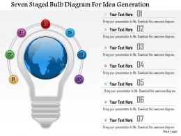 0115 Seven Staged Bulb Diagram For Idea Generation Powerpoint Template
