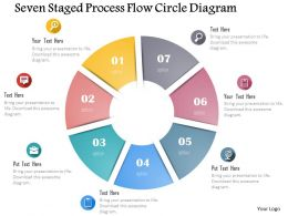 0115 Seven Staged Process Flow Circle Diagram Powerpoint Template
