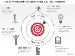 0115 Six Different Icons For Target Selection And Idea Generation Powerpoint Template